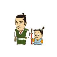 日本の戦国武将:信長と蘭丸