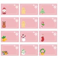 クリスマスカードセット(四角)