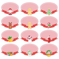 クリスマスカードセット(リボン)