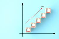 高評価の増加イメージ