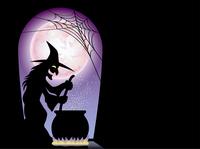 ハロウィーンのカードテンプレート 魔女のレシピ