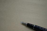 クラフト紙と万年筆