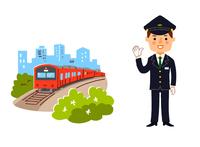 電車と駅員