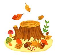 秋の切り株