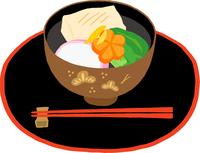 お盆にのったお雑煮 関東風