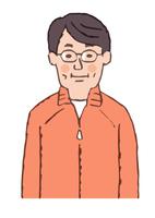 メガネをかけた中年男性