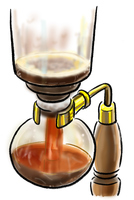 手描き コーヒー サイフォン イラスト カフェ