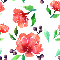 Watercolor style rose illustration