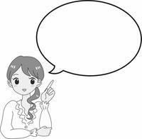 女性 キャラクター 指を差す 吹き出し 解説 白シャツ 案内 働く OL ビジネス 清楚 かわいい