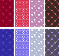 Heart pattern seamless pattern set