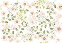 水彩風 シームレスな花の背景