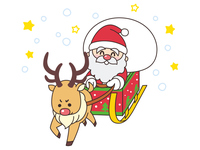 サンタクロースと赤鼻のトナカイ クリスマス
