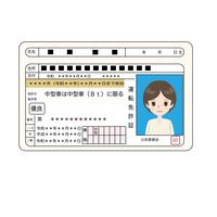 優良運転免許証のイラスト
