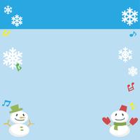 雪だるまと雪の結晶(レクタングルバナーバージョン)