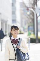笑顔の女子校生