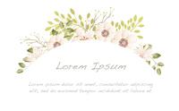 水彩風 花のフレームイラスト