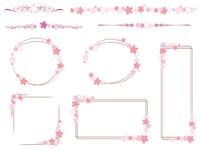 桜のフレーム 飾り罫