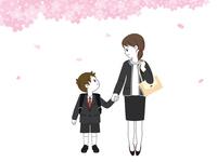 小学一年生 入学 母親