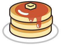 三段積みのホットケーキ