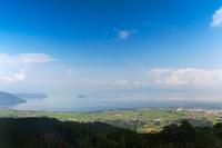 滋賀県 箱館山びわ湖のみえる丘の景色