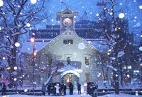 冬のさっぽろ時計台