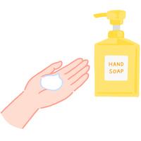 手の洗い方 ハンドソープを手に取る