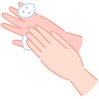 手の洗い方 手の甲を洗う