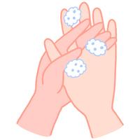 手の洗い方 手の指の間を洗う