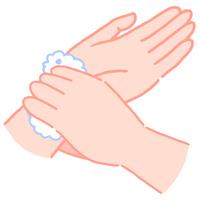 手の洗い方 手首を洗う