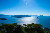 獅子岩展望台からの瀬戸内海の眺望