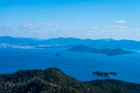 弥山望台からの瀬戸内海の眺望