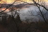 岩手県 冬の朝焼け