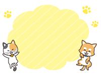 犬と猫と吹き出し