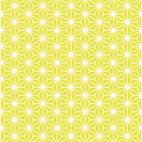 麻の葉 模様 黄色