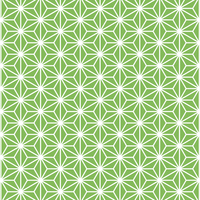麻の葉 模様 緑