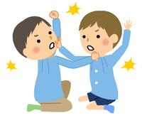 喧嘩するこども 園児 幼児