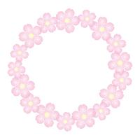 桜の花 背景素材 フレーム イラスト ベクター