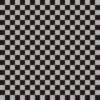 市松模様 黒×グレー2 S