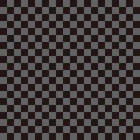 市松模様 黒×グレー S
