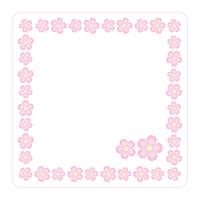 桜の花 背景素材 フレーム コースター イラスト