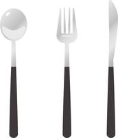 スプーンとフォークとナイフのイメージイラスト