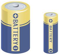 乾電池のイメージイラスト