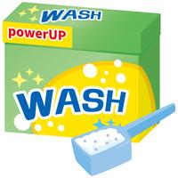 洗濯用洗剤(粉)のイメージイラスト