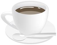 ホットコーヒーのイメージイラスト