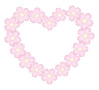 桜の花 背景素材 フレーム コースター イラスト ベクター
