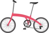 折りたたみ式自転車のイメージイラスト