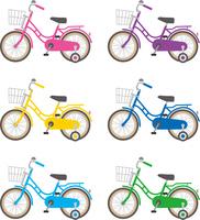 四輪車のイメージイラスト(カラーバリエーション)