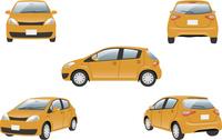 ハイブリッドカー 5カット(オレンジ)