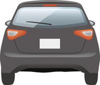 自動車 背面(黒)