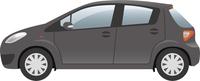 自動車 横向き(黒)